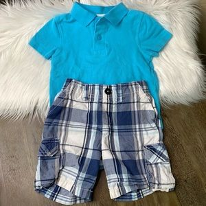 Sonoma Blue Plaid Cargo Shorts